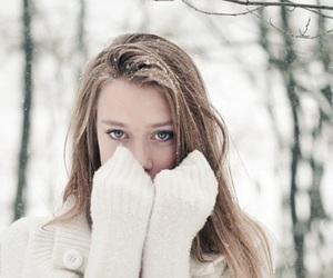 girl, beautiful, and snow image