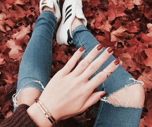 adidas, fall, and autumn vibes image