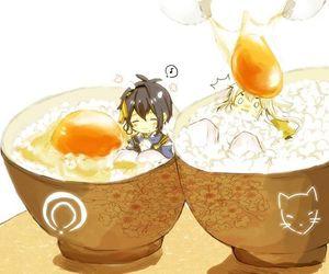 anime, chibi, and egg image