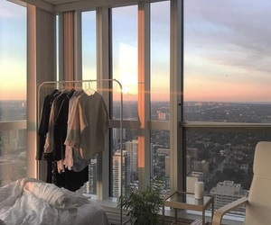 room, sunset, and view image