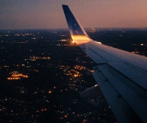 travel, airplane, and light image