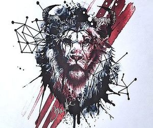 lion, nice, and red image