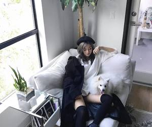 dog, emily ghoul, and ulzzang image