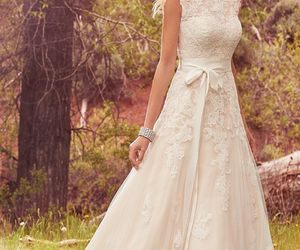 wedding, wedding dress, and wedding dress a-line image
