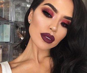 beautiful, lip, and eye image