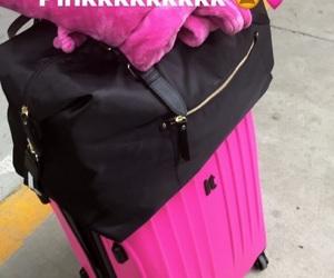 pink, prinxessvibess, and luggage's image
