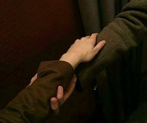 couple, hands, and brown image