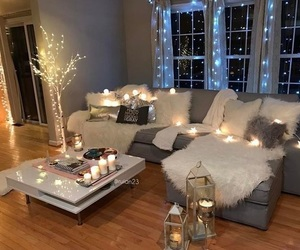 home, light, and decor image