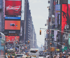 city, new york, and people image