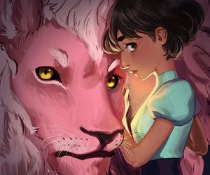 lion, connie, and steven universe image