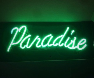 green, paradise, and neon image