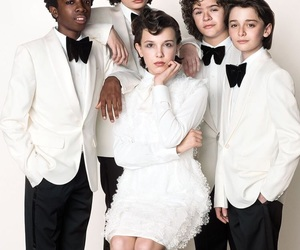 stranger things, finn wolfhard, and millie bobby brown image