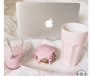 pink, food, and apple image