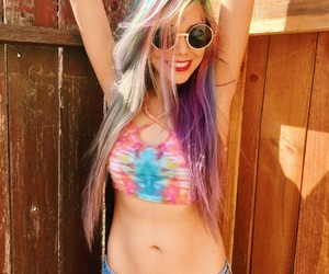 tiedye and rainbowhair image