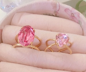 pink, aesthetic, and jewels image
