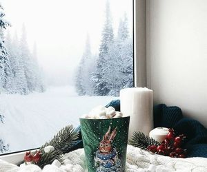 cozy, asthetic, and snow image