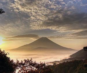 japan, nature, and fuji image