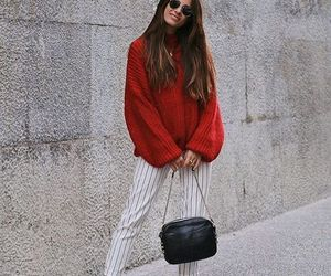 autumn, outfit, and red image