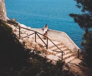 adventure, girl, and ocean image