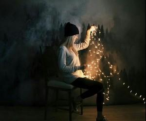 light, girl, and grunge image