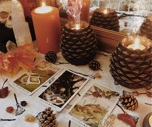 candles, pagan, and tarot image