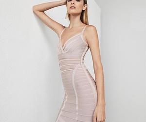 dress, fashion, and herve leger image