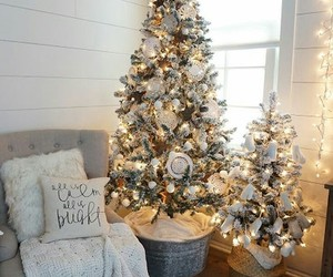 christmas, decoration, and tree image
