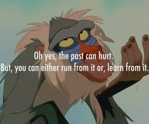 past, quotes, and disney image
