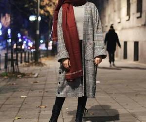 fall, hijab, and winter image