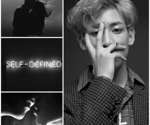 black and white, got7, and Collage image