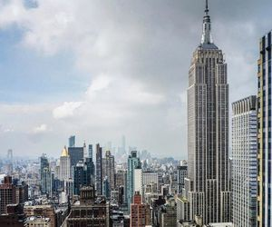 city, empire state building, and manhattan image