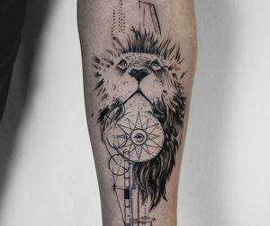 beautiful things, lion, and tattoo image
