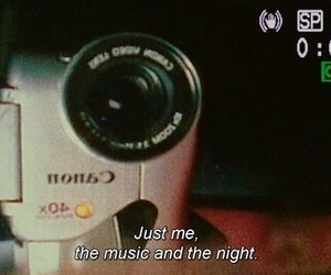 quotes, music, and night image