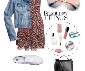 bag, dress, and floral dress image