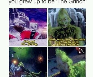 funny, christmas, and the grinch image