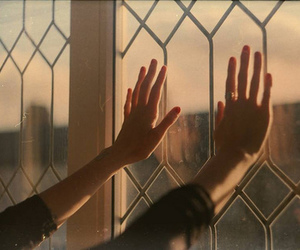 hands and window image