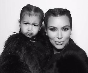 kim kardashian and north west image