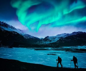 nature, night, and northern lights image