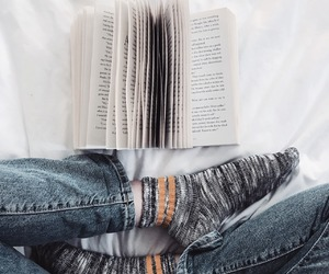 aesthetic, books, and socks image