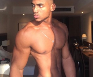 attractive, smooth, and black king things image