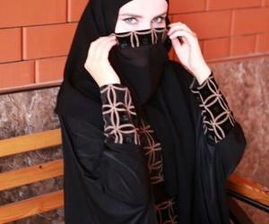 hijab, arabic style, and khaliji image