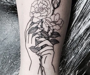 tattoo, flowers, and flores image