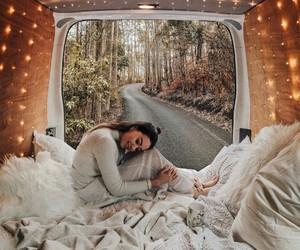 girl, travel, and lights image