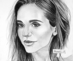 art, charcoal, and Nina Dobrev image