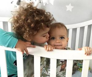 adorable, babies, and cheveux image