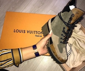shoes, boots, and Louis Vuitton image