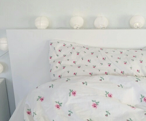 light, bed, and decor image