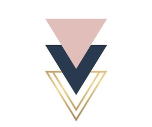 classy, rose gold, and geometric image