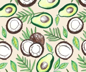 avocado, coconut, and draw image