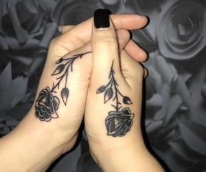 black, forever, and roses image
